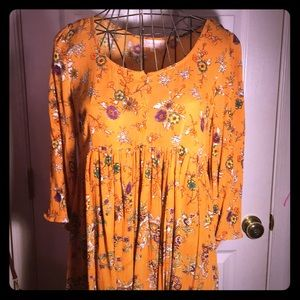 Alter'd State mustard yellow baby doll dress